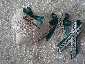 Darčeky pre svadobčanov - Svadobné srdiečko - 9253809_