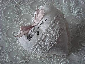 Darčeky pre svadobčanov - Svadobné srdiečko (Biela) - 9253878_