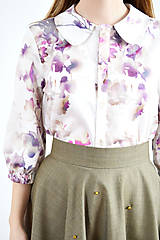 Košele - Blúzka plná farebných kvetov - 9255286_