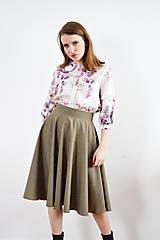 Sukne - Kruhová sukňa so zlatými perličkami - 9255372_