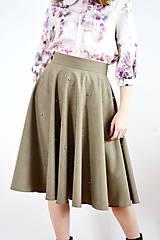 Sukne - Kruhová sukňa so zlatými perličkami - 9255373_