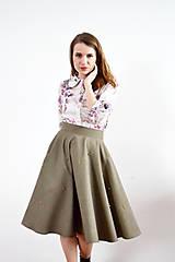 Sukne - Kruhová sukňa so zlatými perličkami - 9255374_
