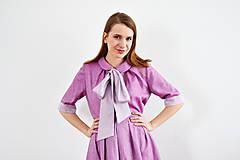 - OUTFIT: Fialové spojenie blúzky a sukne tvoriace šaty - 9255563_