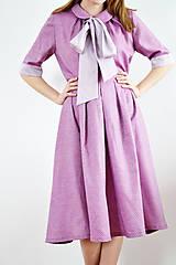 Iné oblečenie - OUTFIT: Fialové spojenie blúzky a sukne tvoriace šaty - 9255564_