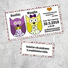 Papiernictvo - Svadobné oznámenie sovičky 1 - 9257122_