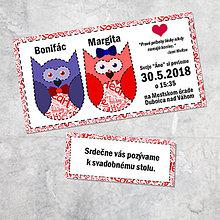 Papiernictvo - Svadobné oznámenie sovičky 2 - 9257550_