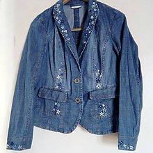 Kabáty - Sako mako modrokvietok - 9260690_
