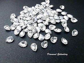 Galantéria - Ozdobné kamienky 6 x 8 mm - Crystal - 9262713_
