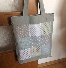 Nákupné tašky - taška sivý patchwork - 9258260_