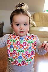 Detské doplnky - Podbradník - folk farebné kvety 02 - 9260839_