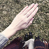 Prstene - Pozlátený prsteň s kruhom (žlté zlato) - 9262708_