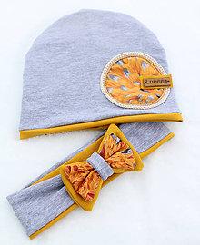 Detské čiapky - Prechodná čiapka a čelenka - 9258386_