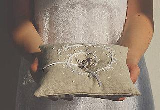 Prstene - Svadobný vankúšik pod obrúčky- Špirála - 9262228_