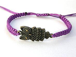 Náramky - violet hedviga shamballa - 9260229_
