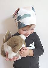 Detské doplnky - šatka z biobavlny Zajko na obláčiku - 9262167_