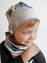 Detské čiapky - čiapka z biobavlny Zajko na obláčiku - 9262592_