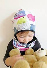 Detské čiapky - čiapka z biobavlny Obláčiky - 9262670_
