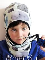 Detské čiapky - čiapka z biobavlny Kamene - 9262927_