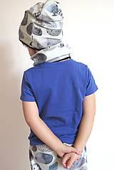 Detské oblečenie - kraťasy z biobavlny Kamene - 9262964_