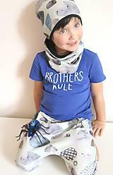 Detské oblečenie - kraťasy z biobavlny Kamene - 9262966_