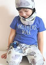 Detské oblečenie - kraťasy z biobavlny Kamene - 9262967_