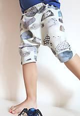 Detské oblečenie - kraťasy z biobavlny Kamene - 9262968_