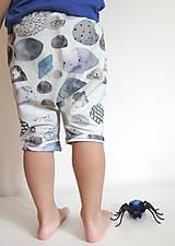 Detské oblečenie - kraťasy z biobavlny Kamene - 9262971_