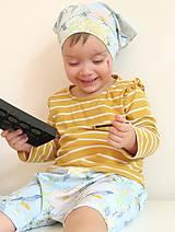 Detské oblečenie - kraťasy Tropické kvety - 9263066_