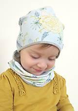 Detské čiapky - čiapka Tropické kvety - 9263192_