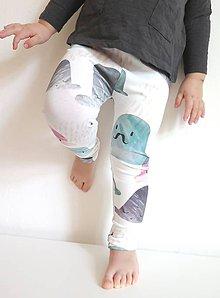 Detské oblečenie - legíny z biobavlny Klobúky - 9261844_