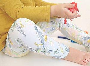 Detské oblečenie - legíny Tropické kvety - 9263245_