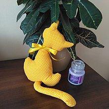 Dekorácie - Žltá mačička - 9258305_