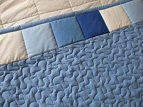 Úžitkový textil - Modrá zástena s horným lemom - 9263204_