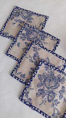Úžitkový textil - Podšálky-romantické - 9260454_