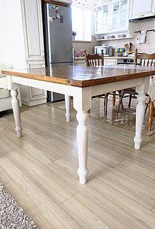 Nábytok - Cínovaný dubový stôl - 9259511_