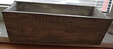Nádoby - drevený kvetináč, debnička, hrantík - 9259078_