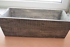 Nádoby - drevený kvetináč, debnička, hrantík - 9259080_