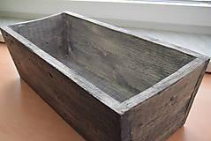 Nádoby - drevený kvetináč, debnička, hrantík - 9259081_