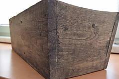 Nádoby - drevený kvetináč, debnička, hrantík - 9259083_