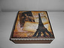 Krabičky - Krabička vintage Paríž - 9258744_