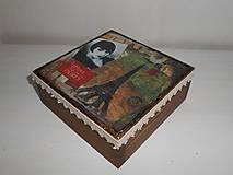 Krabičky - Krabička vintage Paríž - 9258965_