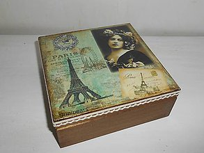 Krabičky - Krabička vintage Paríž - 9258893_