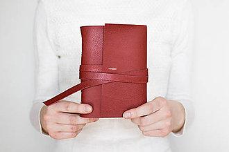 Papiernictvo - Kožený zápisník Mariola - 9262501_