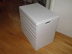 Nábytok - Kôš na prádlo biely. - 9263149_