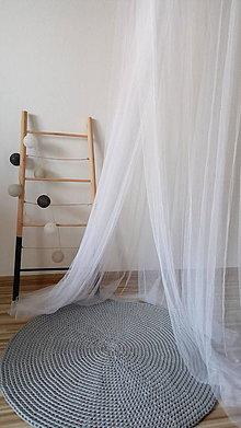 Úžitkový textil - Okrúhly, háčkovaný koberec 80 cm - 9259503_