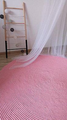 Úžitkový textil - Okrúhly, háčkovaný koberec 150 cm - 9259603_