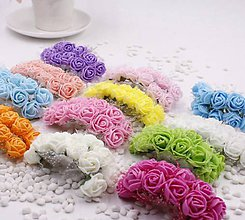 Polotovary - 7. Penové ružičky, 12 ks - 9266496_