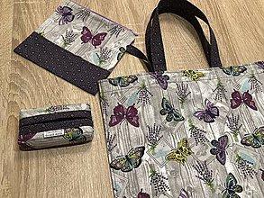 Nákupné tašky - Nákupná taška Motýle - set do kabelky - 9264453_