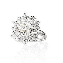 Prstene - prsteň SNEHOVÁ VLOČKA (Ag 925) - 9264927_