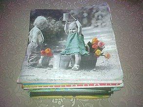 Papier - Akcia - servítky 100 kus. detské alebo kvety - 9266780_